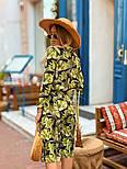 Женское легкое платье с растительным принтом, фото 2