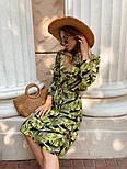 Женское легкое платье с растительным принтом, фото 5