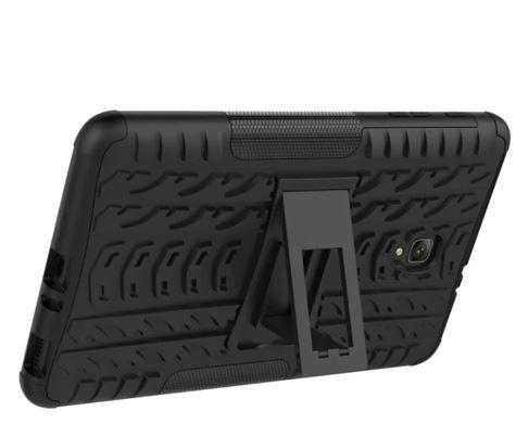 Противоударный двухслойный чехол Shield для Samsung Galaxy Tab A 8.0 LTE T385 (2018) c подставкой Черный