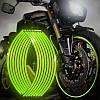 Светоотражающие полосы на диск зеленые кислотные