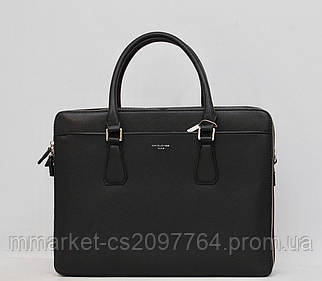 Мужской кожаный (кожа искусственная) портфель / сумка с отделом под ноутбук David Jones / Дэвид Джонс