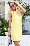 Классическое платье-трапеция желтое, фото 2