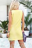Классическое платье-трапеция желтое, фото 3