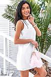 Классическое платье-трапеция белое, фото 3
