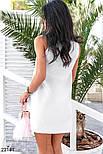 Классическое платье-трапеция белое, фото 4