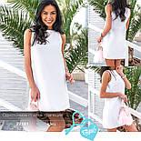 Классическое платье-трапеция белое, фото 5