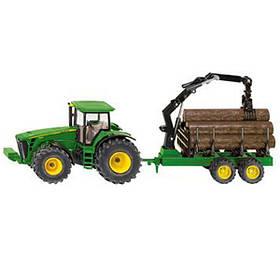 Модель трактора JD8430 с манипулятором на прицепе М1:50, JD