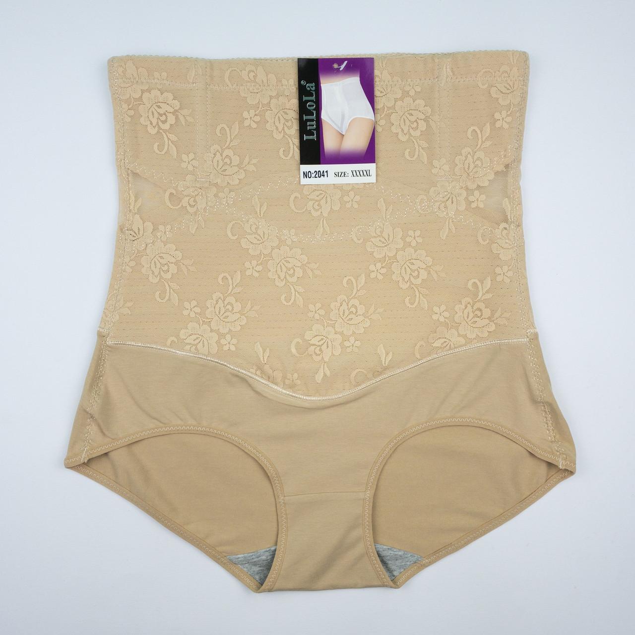 Пояс-утяжка LU LO LA высокие с дышащей подкладкой на косточках, в ажурную сеточку