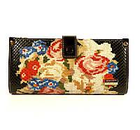 Кошелек женский кожаный Velina Fabbiano 1051 - вышивка, расцветки в наличии