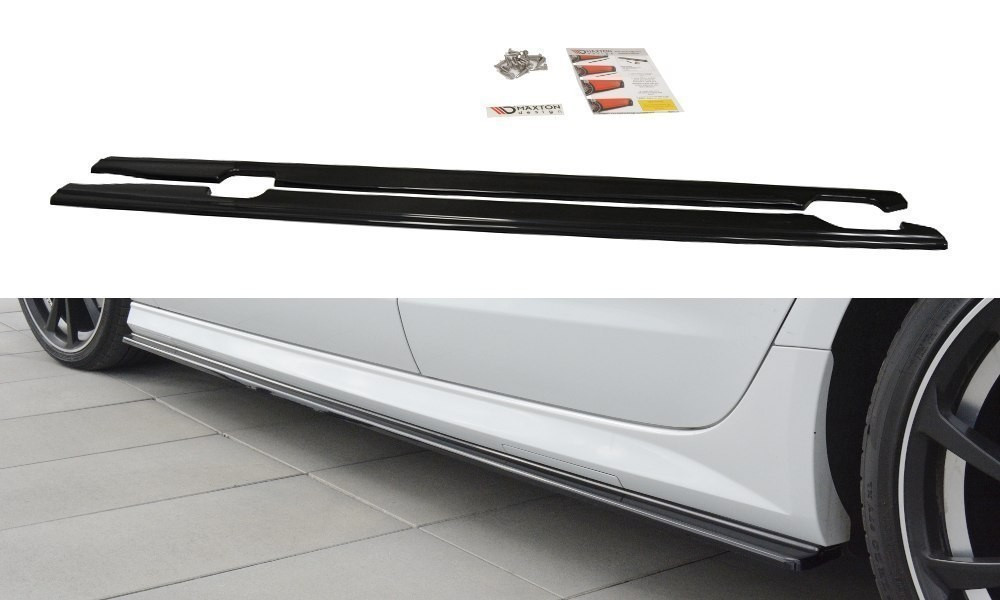 Диффузоры на пороги юбка накладка тюнинг Audi A6 C7 S-LINE / S6 C7