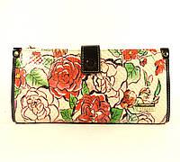 Кошелек женский кожаный Velina Fabbiano 1051 - розы, расцветки в наличии