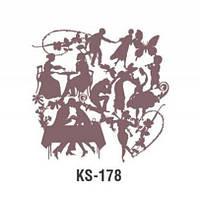 Трафарет KS-178, 25х25см