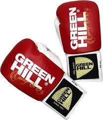 """Перчатки боксерские """"Pegasus"""" Green Hill лицензированные AIBA PRO BOXING 10 унций красный"""
