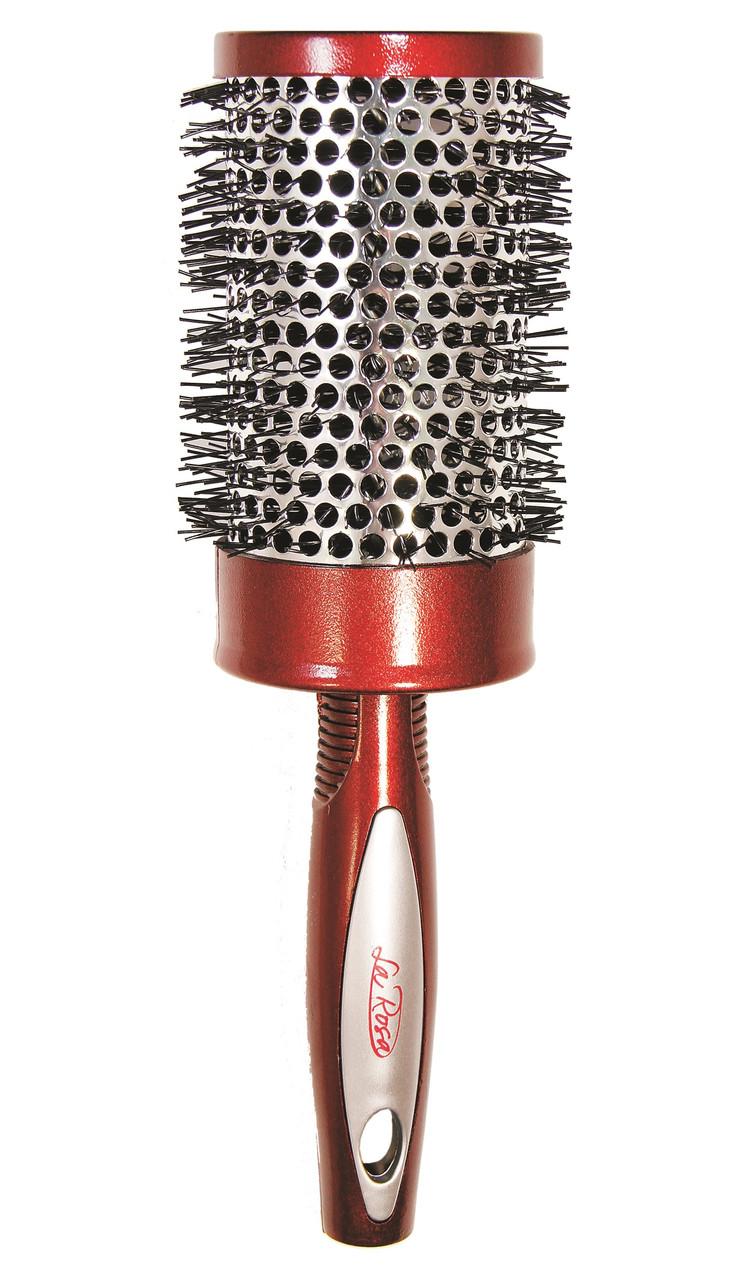 Щётка-брашинг для укладки волос La Rosa круглая большая 23,5 см., 5566