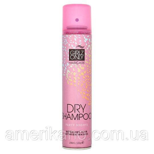 Сухой шампунь оригинальный (Великобритания) Girlz Only Dry Shampoo 200 мл Party Nights Цветочный