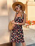 Женский сарафан с цветочным принтом, фото 4