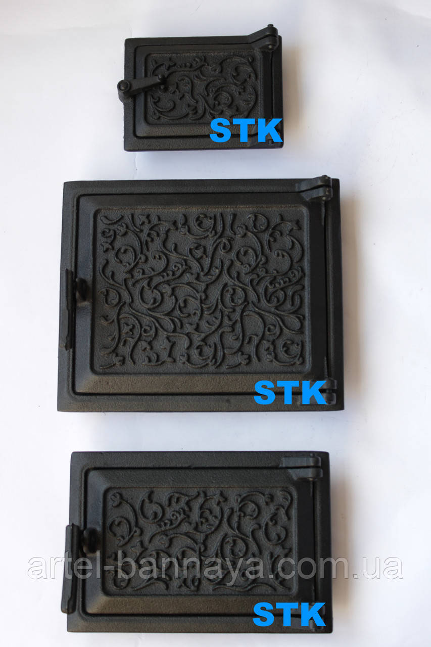 Дверь чугунная STK ( комплект - 3 двери)