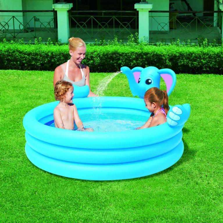 Надувной бассейн слоненок с фонтанчиком
