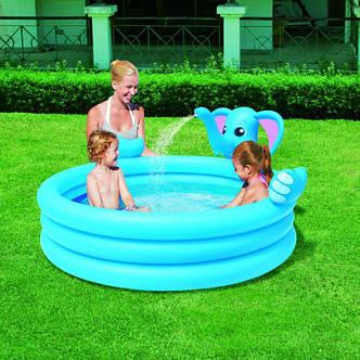 Надувной бассейн слоненок с фонтанчиком, фото 2