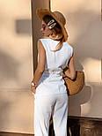 Жіночий брючний костюм: кофточка з баскою і штани (в кольорах), фото 3