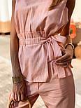 Женский брючный костюм: кофточка с баской и брюки (в расцветках), фото 10