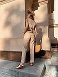 Женский брючный костюм: кофточка с баской и брюки (в расцветках), фото 5