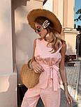 Жіночий брючний костюм: кофточка з баскою і штани (в кольорах), фото 4
