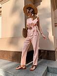 Женский брючный костюм: кофточка с баской и брюки (в расцветках), фото 8