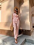 Жіночий брючний костюм: кофточка з баскою і штани (в кольорах), фото 6