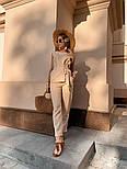 Женский брючный костюм: кофточка с баской и брюки (в расцветках), фото 7