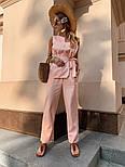 Женский брючный костюм: кофточка с баской и брюки (в расцветках), фото 9