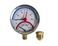 Термоманометр радиальный 80 мм SANLUX termo