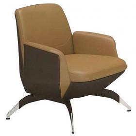 Кресло офисное Absolute комбинированная кожа люкс Beige/Coffee (AMF-ТМ)