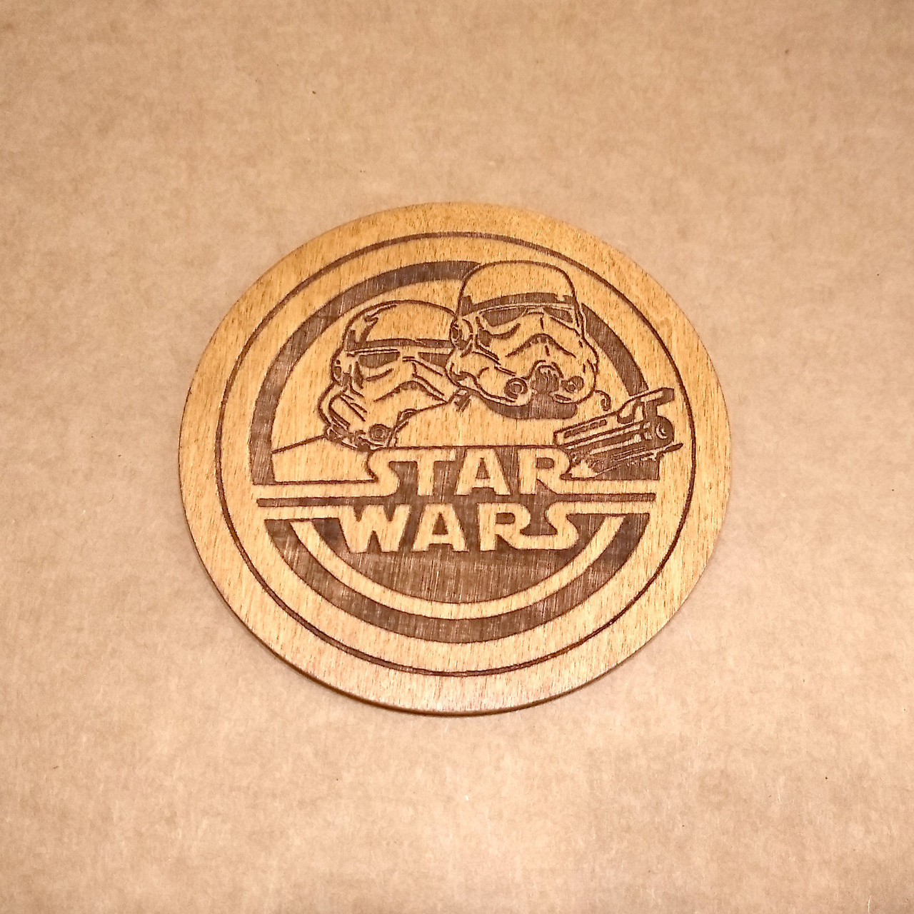 Костер деревянный. Подставка под кружку Star Wars.