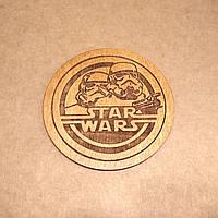 Костер деревянный. Подставка под кружку Star Wars., фото 1