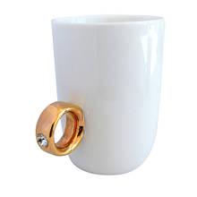 """Чашка """"Золоте кільце"""", біла"""