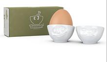 Набір з двох фарфорових підставок для яєць Tassen Щаслива посмішка & Хмм