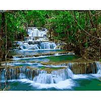 Картина по номерам Babylon Водопад Эраван Тайланд 40Х50 см VP913