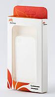 Ультратонкий чехол-накладка для iPhone 4/4S белый - Florence PU 0.3 mm