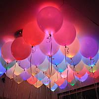 Яскраві, повітряні кульки з підсвічуванням на день народження! Різнокольорові кульки, що світяться в темряві!, фото 1