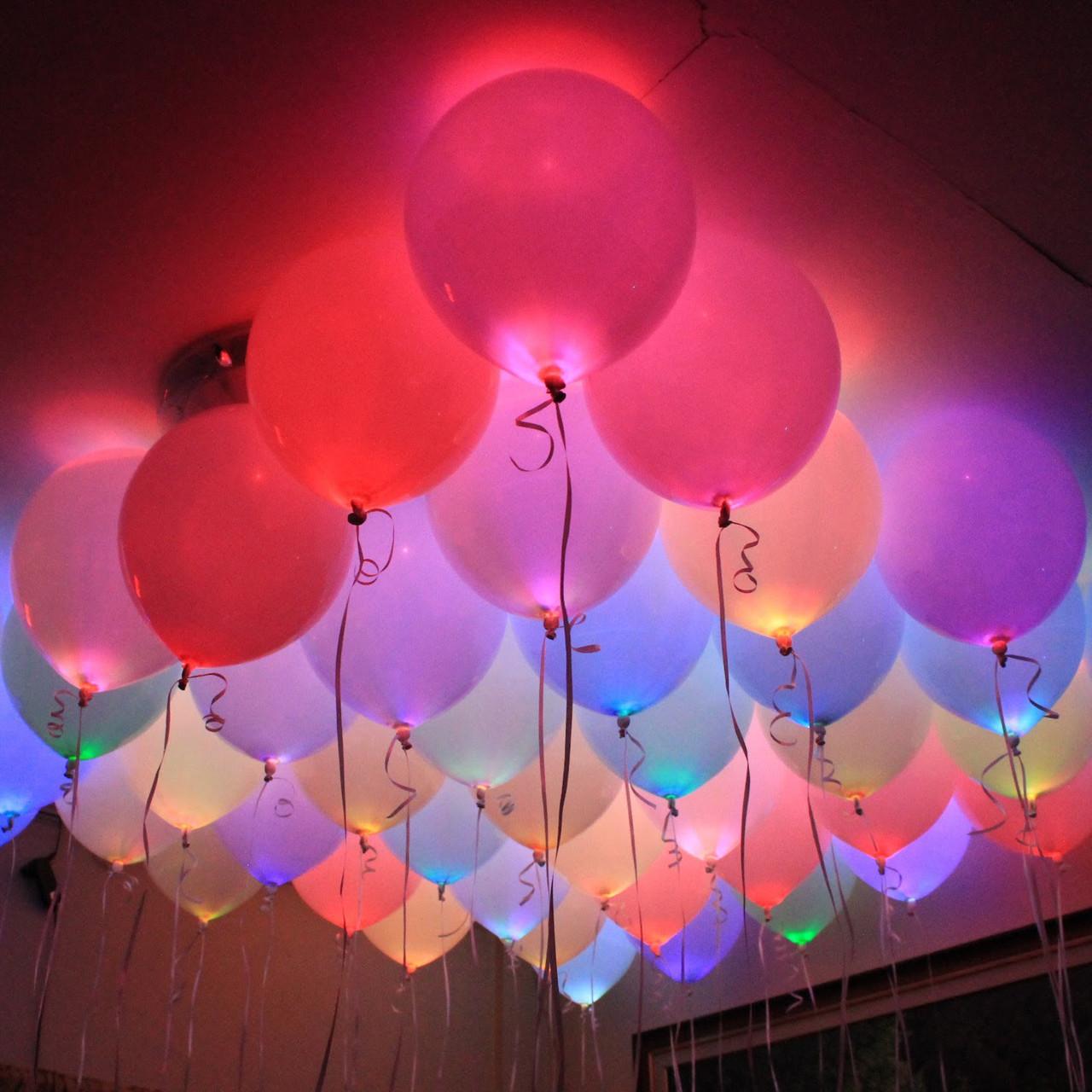 Яскраві, повітряні кульки з підсвічуванням на день народження! Різнокольорові кульки, що світяться в темряві!