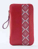 Чехол-сумочка кожаный Black Brier вышиванка красный 5Б. XXL. №20 (ЕС3Р)