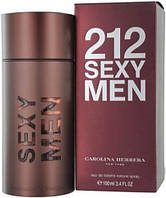 Мужская Туалетная вода Carolina Herrera 212 Sexy Men (коричневый магнит) 100 мл, фото 1