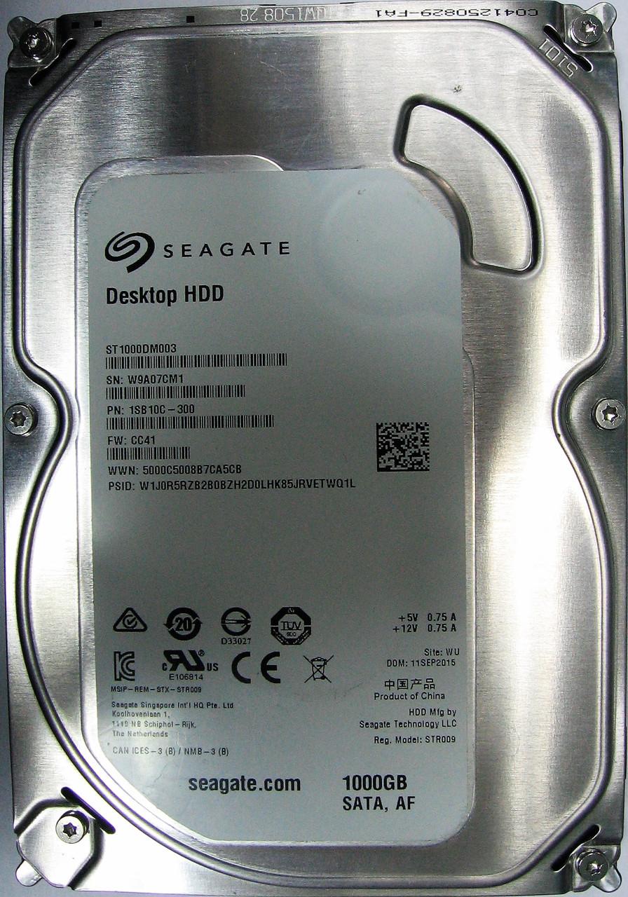 HDD 1TB 7200rpm 64MB SATA III 3.5 Seagate ST1000DM003 W9A07CM1