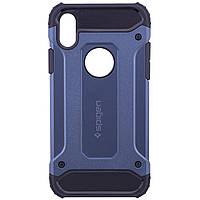 "Чехол Epik SPIGEN для Apple iPhone X (5.8"") (Синий)"
