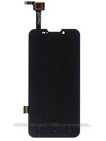 Дисплей (экран) ZTE V987 Grand X Quad with touch screen (с тачскрином в сборе) ORIG, black (черный)