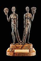 Статуэтка бронзовая Vizuri BST 700033 42 см  Талия и Мельпомена