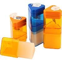Точилка с контейнером и ластиком, 1 отверстие, Correc Tri, KUM