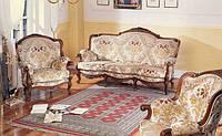 BTC Arcadia Классический уголок: Диван, 2 кресла Натуральное дерево Большой выбор оббивок арт.35/21
