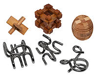 Набор из 6 головоломок-антистрессов разного уровня сложности